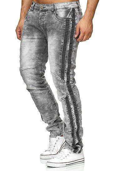661c63fd7c Jaylvis Hommes Jeans Pantalon Slim Fit H2331  Amazon.fr  Vêtements ...