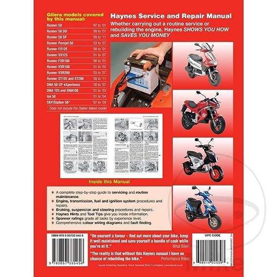 Haynes Scooter Manual Aprilia Gilera Honda Piaggio Peugeot MBK Auto Transmission