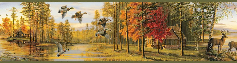 Green Chesapeake BBC35541B Autumn Quiet Evening Portrait Wallpaper Border