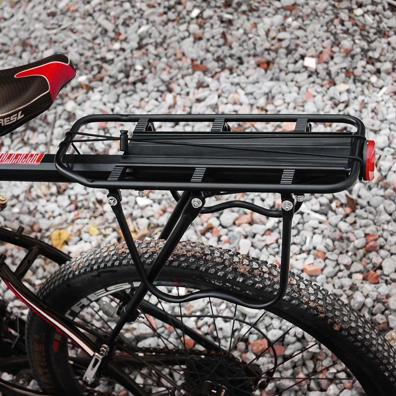 Carico Massimo 90 kg Lega di Alluminio Regolabile Portapacchi Bicicletta Portapacchi Posteriore Bici con Riflettore EKKONG Portapacchi Bici MTB