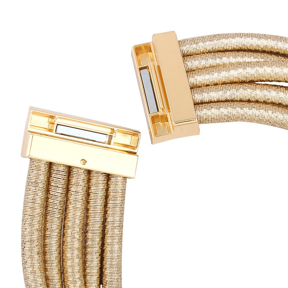 FANCY LOVE Newes Double Rope Maxi Colar Choker Necklace or Bracelet with Maganetic Lock (Gold necklace) by FANCY LOVE BOUTIQUE (Image #8)