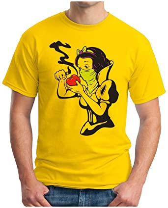 OM3 CRACK SCHNEEWITTCHEN - T-Shirt Schneeflittchen Tattoo Rockabilly Gothic  Punk Kush Geek, S