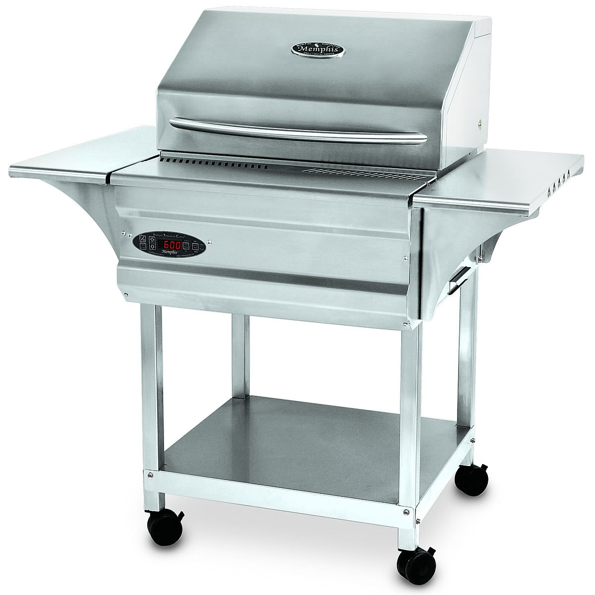 Memphis Grills Advantage Wood Fire Pellet Smoker Grill with Wi-Fi (VG0050S4), Freestanding, 430 Stainless Steel Alloy