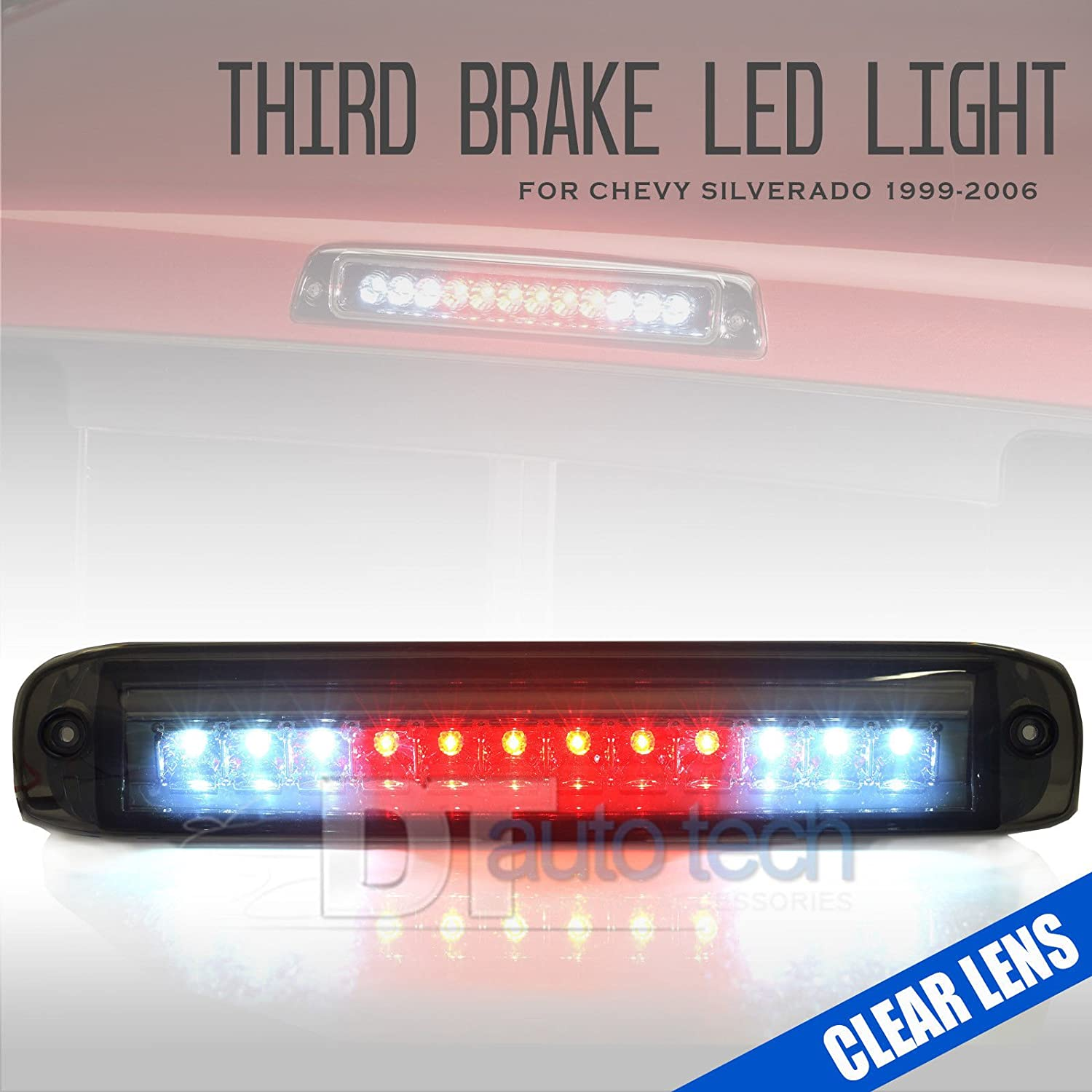 99-06 Silverado/Sierra LED 3rd Third Brake Light Stop Cargo Lamp (Smoked) syneticusa