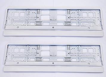 Set 2 X Premium Kennzeichenhalter Kennzeichenhalterung Nummernschildhalter Neu Weiß Auto