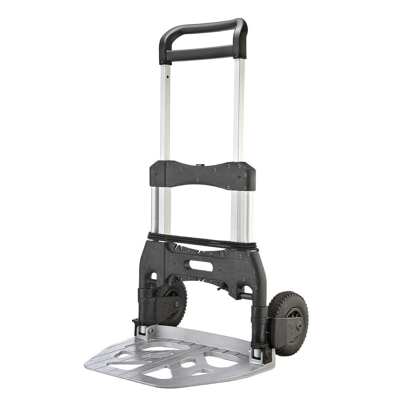 T-EQUIP Noir FST-50S Diable compact et pliable en aluminium avec charge maximale de 50/kg
