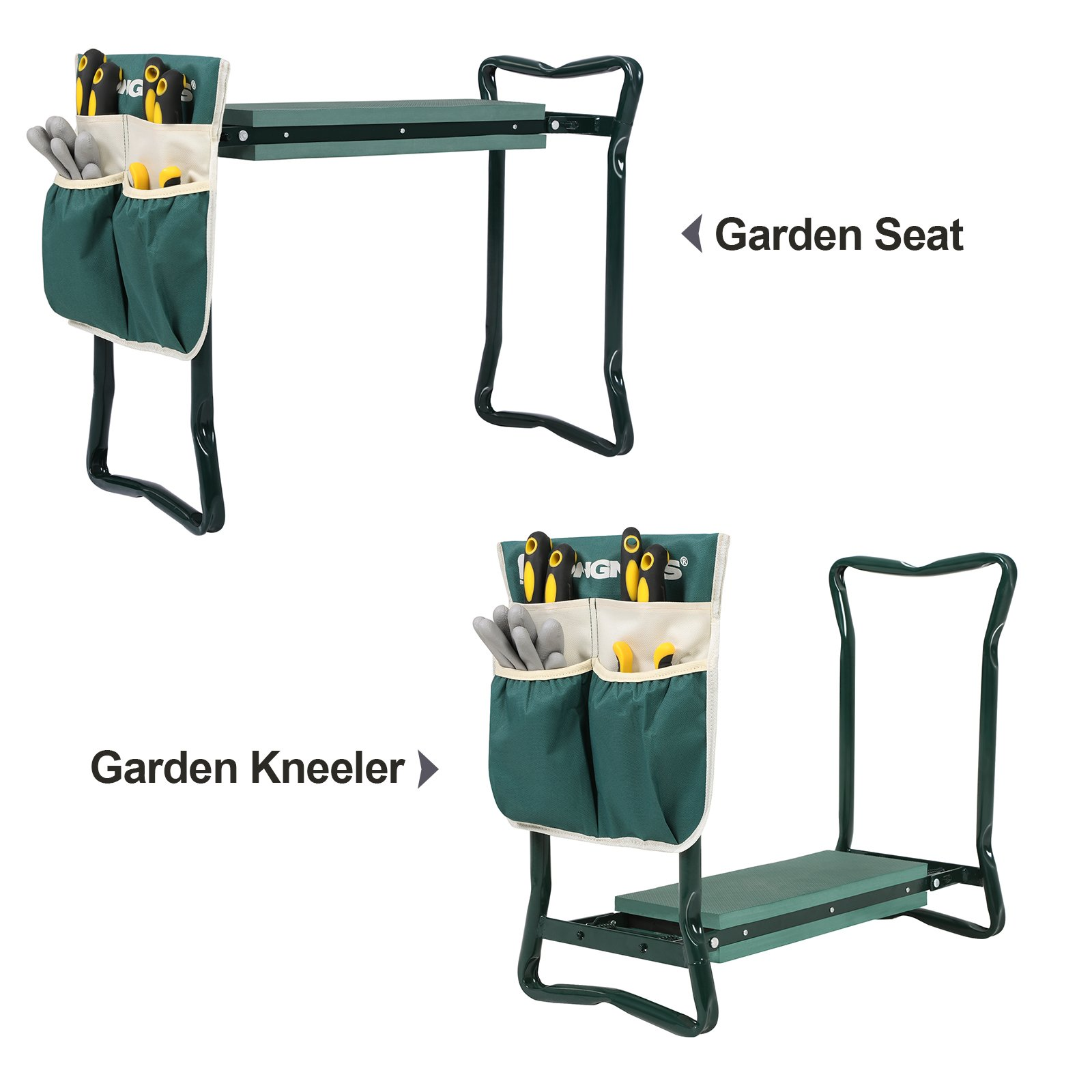 Galleon Songmics Garden Kneeler Seat With Upgraded Large