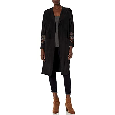 3J WORKSHOP Women's Suede Coat with Embroidery at Amazon Women's Coats Shop