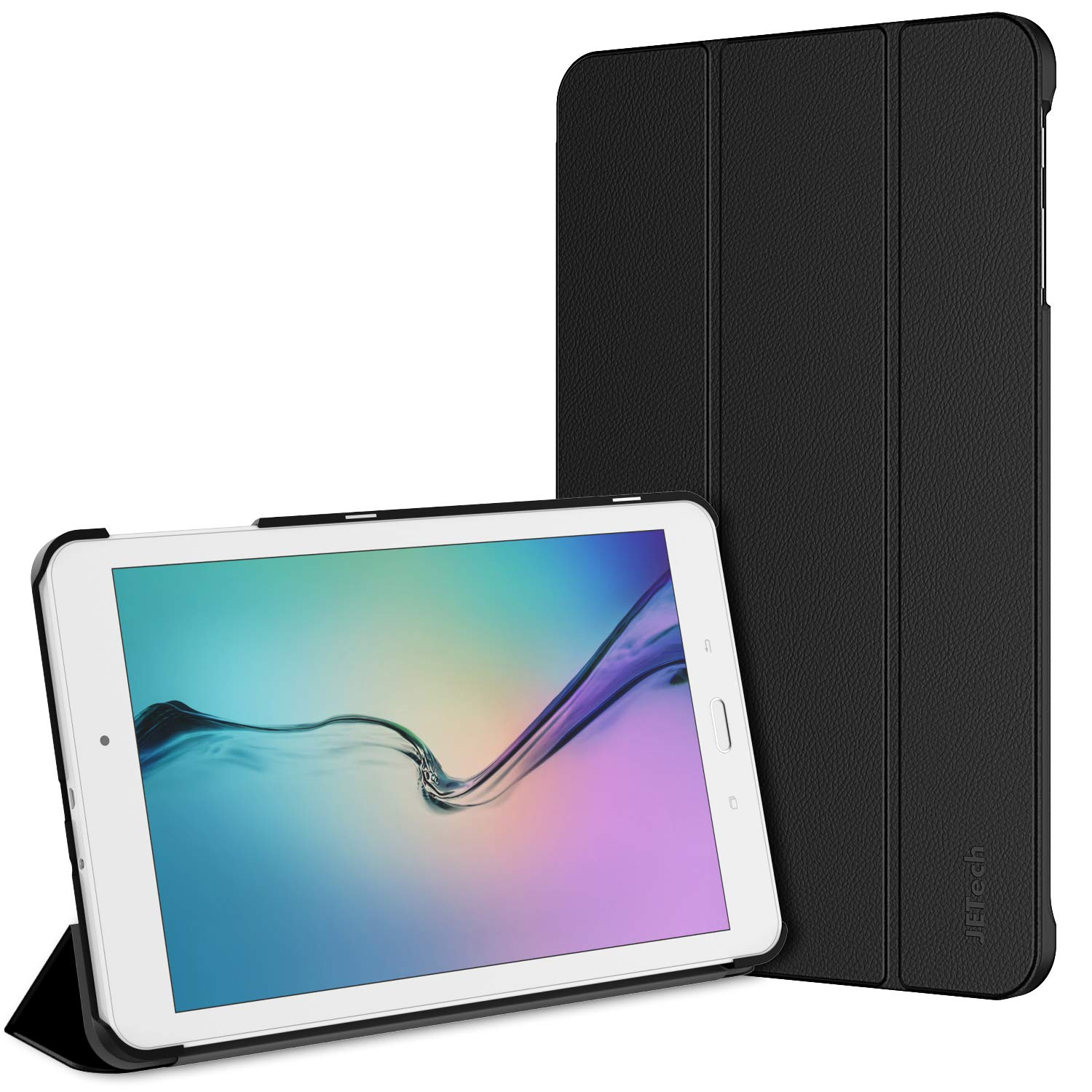 """JETech Case for Galaxy Tab E / Tab E Nook 9.6"""" Tablet with Stand Function, Black"""