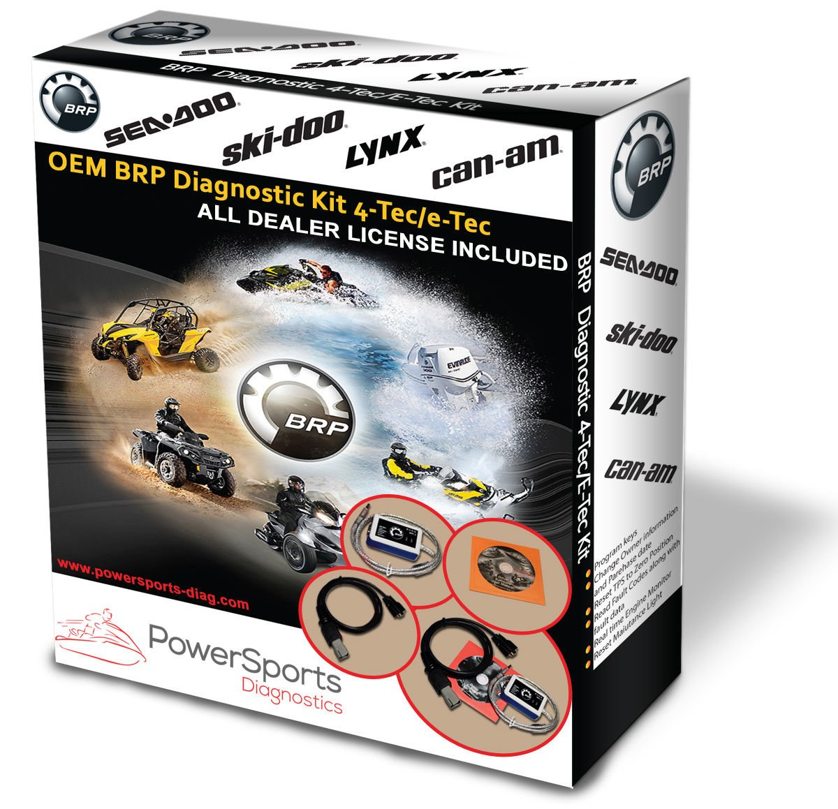 BRP BUDS / BUDS2 MPI-3 Diagnostic Kit 4TEC/ETEC for SEADOO SKIDOO CANAM LYNX