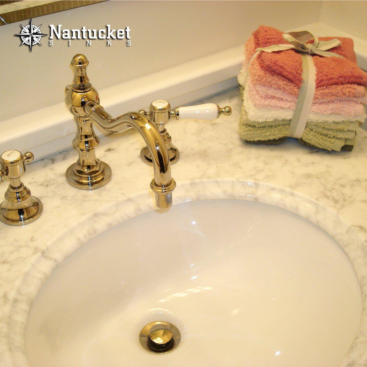 Nantucket Sinks UM-17x14-W-K 17-Inch by 14-Inch Oval Ceramic Undermount Vanity  Sink, White - Bathroom Vanities - Amazon.com