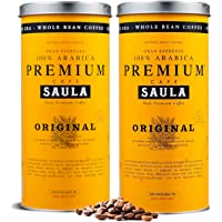 Saula Premium Koffiebonen, Pak 2 blikken van 500 gr. Original 100% Arabica