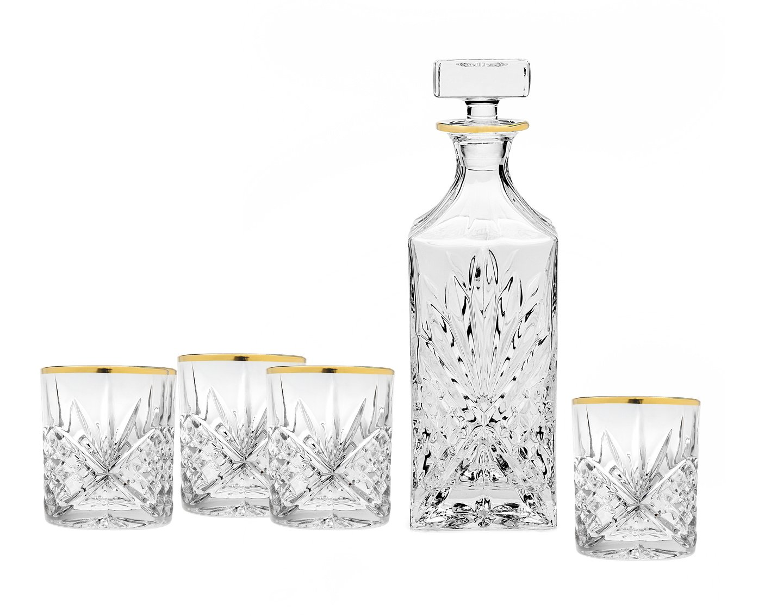 amazoncom  dublin whiskey bar set decanter  dof glass  - amazoncom  dublin whiskey bar set decanter  dof glass drinkware setsdecanters