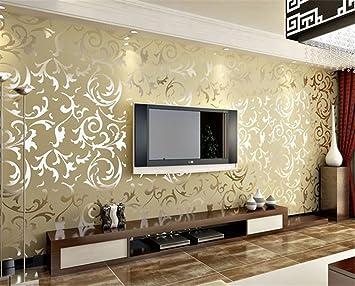 einfach im europischen stil luxus schlafzimmer wohnzimmer tv hintergrund wand tiefenprgung tapete tapete beige - Luxus Schlafzimmer Wande