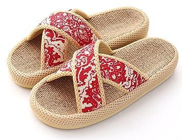 9d4b25e8a Happy Lily Slip on Slippers Non-slip Open Toe All Seasons Sandal Unisex  Organic Linen