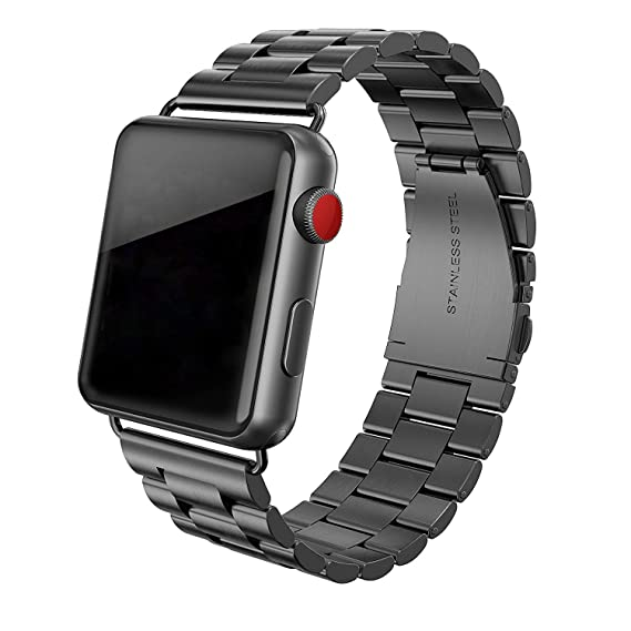 e97138ca67dd90 SWEES Stainless Steel Metal Bands Compatible with Apple Watch 42mm 44mm  Series 4, Series 3