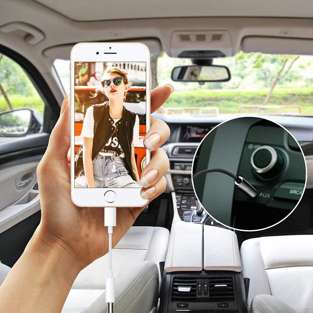 X//XS Max f/ür alle iOS Kopfh/örer f/ür iPhone Adapter f/ür iPhone 7 Aux Audio auf 3,5-mm-Kabel Kopfh/öreradapter Headset-Splitter Ohrh/örer-Adapter f/ür Musik Kompatibel mit iPhone 7 8 7Plus 8Plus