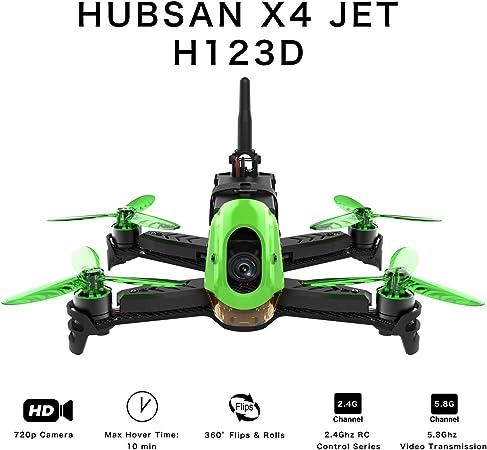 Imagen deHUBSAN H123D X4 Jet Racer Brushless Drone 720P Cámara 5.8 GHz FPV 2.4 GHz RC Cuadricóptero con Transmisor HT012D