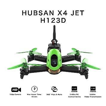 Hubsan H123D X4 Jet Racer Brushless Drone 720P Cámara 5.8 GHz FPV ...