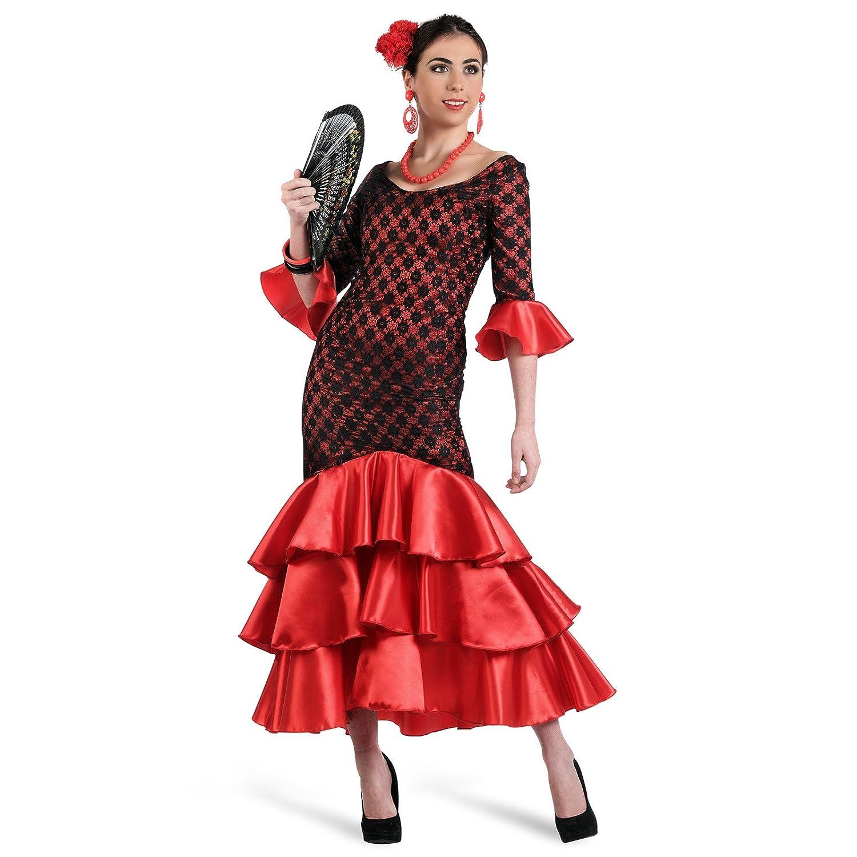 Limit Sport - Disfraz de sevillana flamenca para adultos, talla L ...