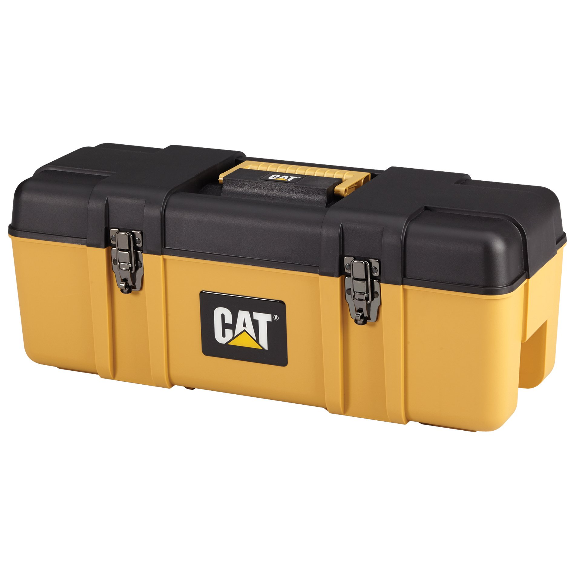 Cat Heavy-Duty Plastic Tool Box with Removable Tote, 26'' W - Designed, Engineered and Assembled in the USA