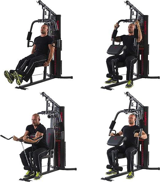 Marcy Multigym HG3000 Eclipse, Multiestación con Carga Guiada, Máquina de Musculación compacta, Gimnasio Multifunción, Brazos Press, Curl piernas y bíceps, Poleas: Amazon.es: Deportes y aire libre