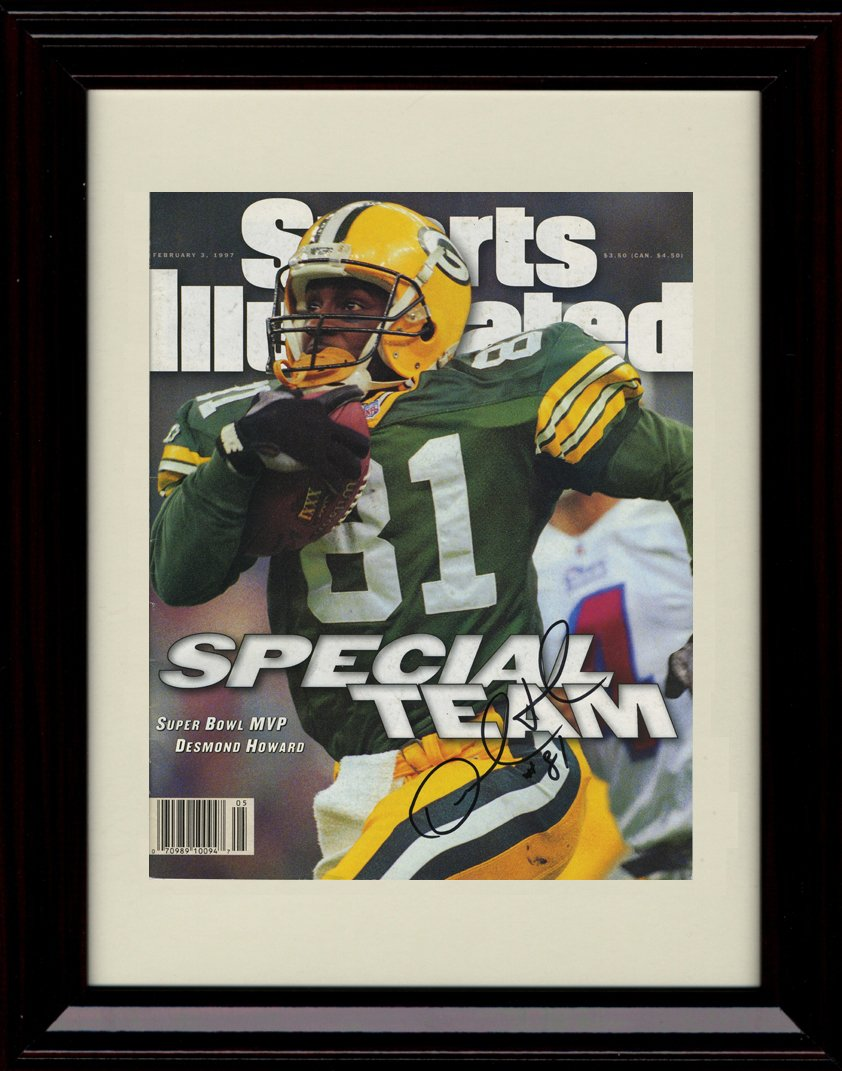 Framed Desmond Howard Sports Illustrated Autographレプリカ印刷 – 1996 Champs 。   B01NBD5LZ5