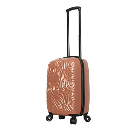 Mia Toro Italy Swirl Hard Side Spinner Carry-on, Champagne