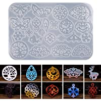 Umisu Silicone Resin Mold Earring Jewelry Pendants Casting Mold DIY Jewelry Making for Women Girls