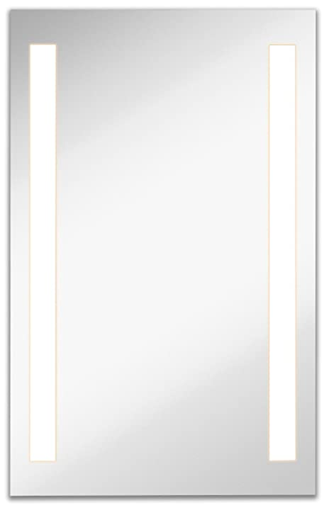 lighted led frameless backlit wall mirror polished edge silver backed illuminated 2 frosted line vertical
