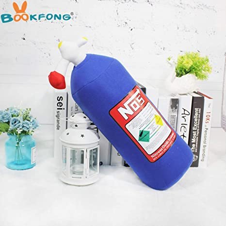 JEWH Creative Plush Toy NOS Nitrous Oxide Bottle Pillow - Turbo JDM Cushion Gift Decor Headrest