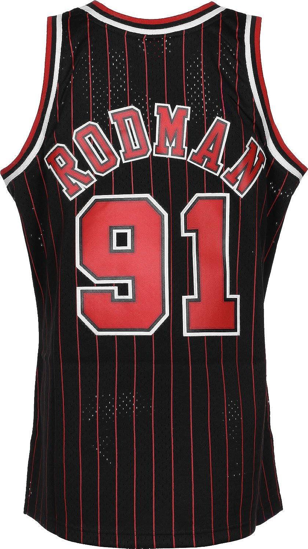 Mitchell & Ness Swingman Chicago Bulls Rodman Camiseta sin Mangas: Amazon.es: Ropa y accesorios