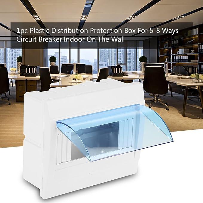 5//8-Wege-Kunststoff-Verteilerkasten Mit Weiße Transparenter Deckel,