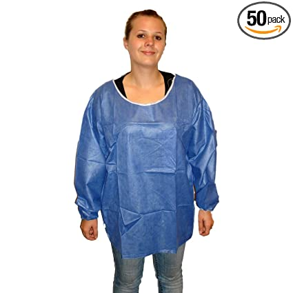 64ff1604d99 Amazon.com: Enviroguard Soft Scrub Long Sleeve Shirt, Disposable, Elastic  Wrists, Denim Blue, X-Large (Case of 50): Home Improvement