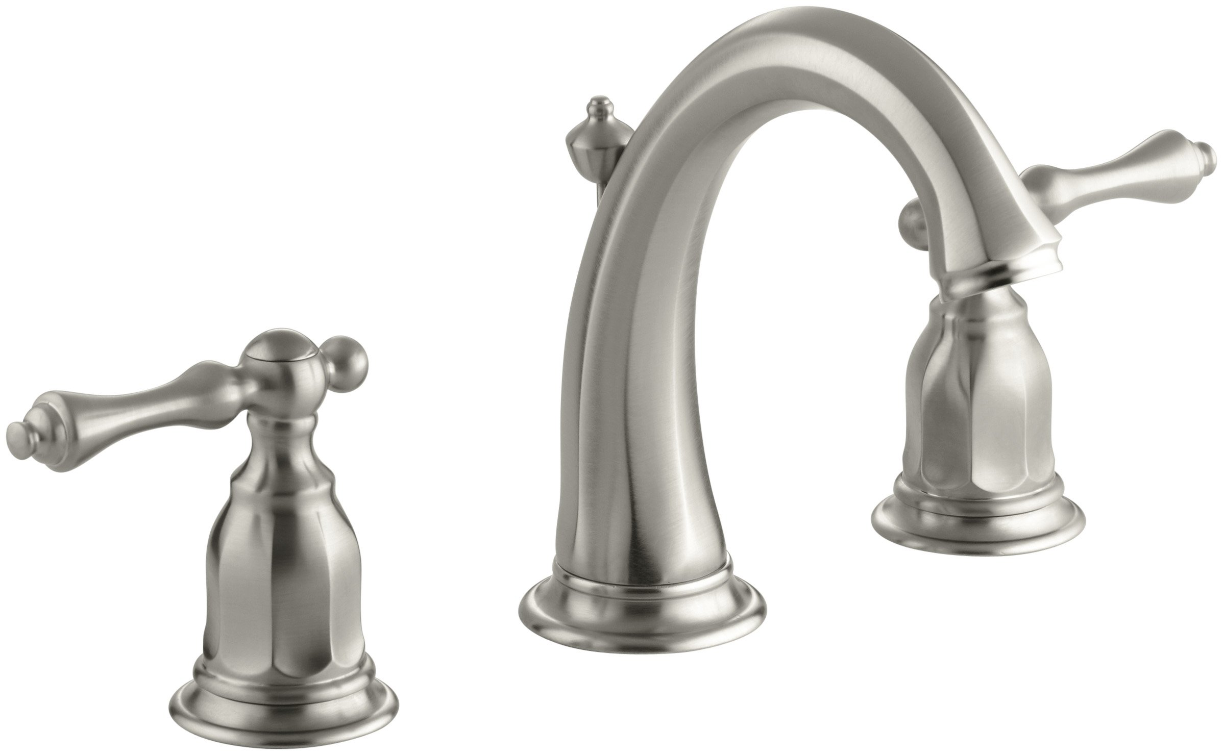 KOHLER K-13491-4-BN Kelston Widespread Bathroom Sink Faucet, Vibrant Brushed Nickel by Kohler
