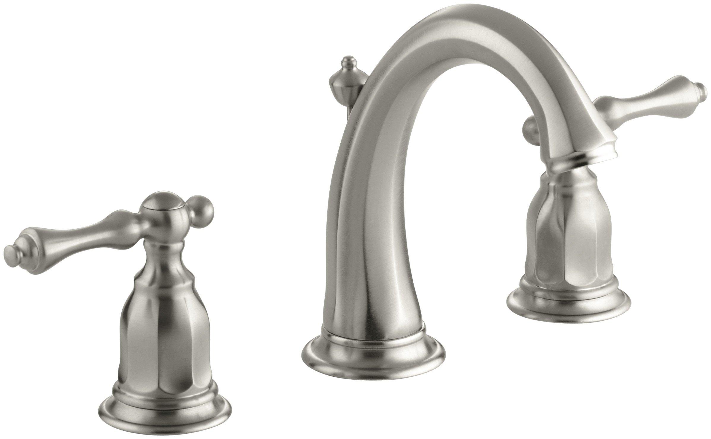 KOHLER K-13491-4-BN Kelston Widespread Bathroom Sink Faucet, Vibrant Brushed Nickel