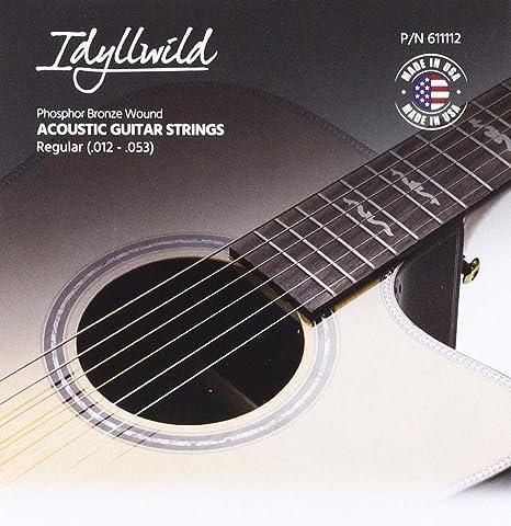 Idyllwild - Juego de cuerdas para guitarra acústica de bronce fósforo fabricado en América (.