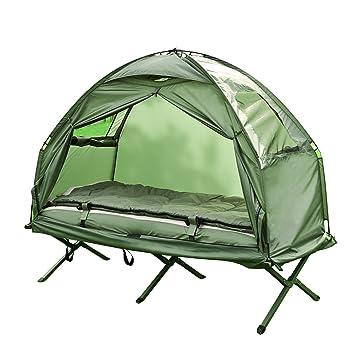 SoBuy OGS32-GR Cama plegable para acampada (4 en 1) Cama ...