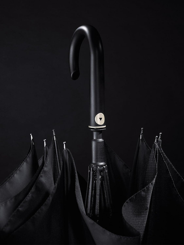 Happy Rain Long AC ouverture automatique Parapluie 87 cm Black