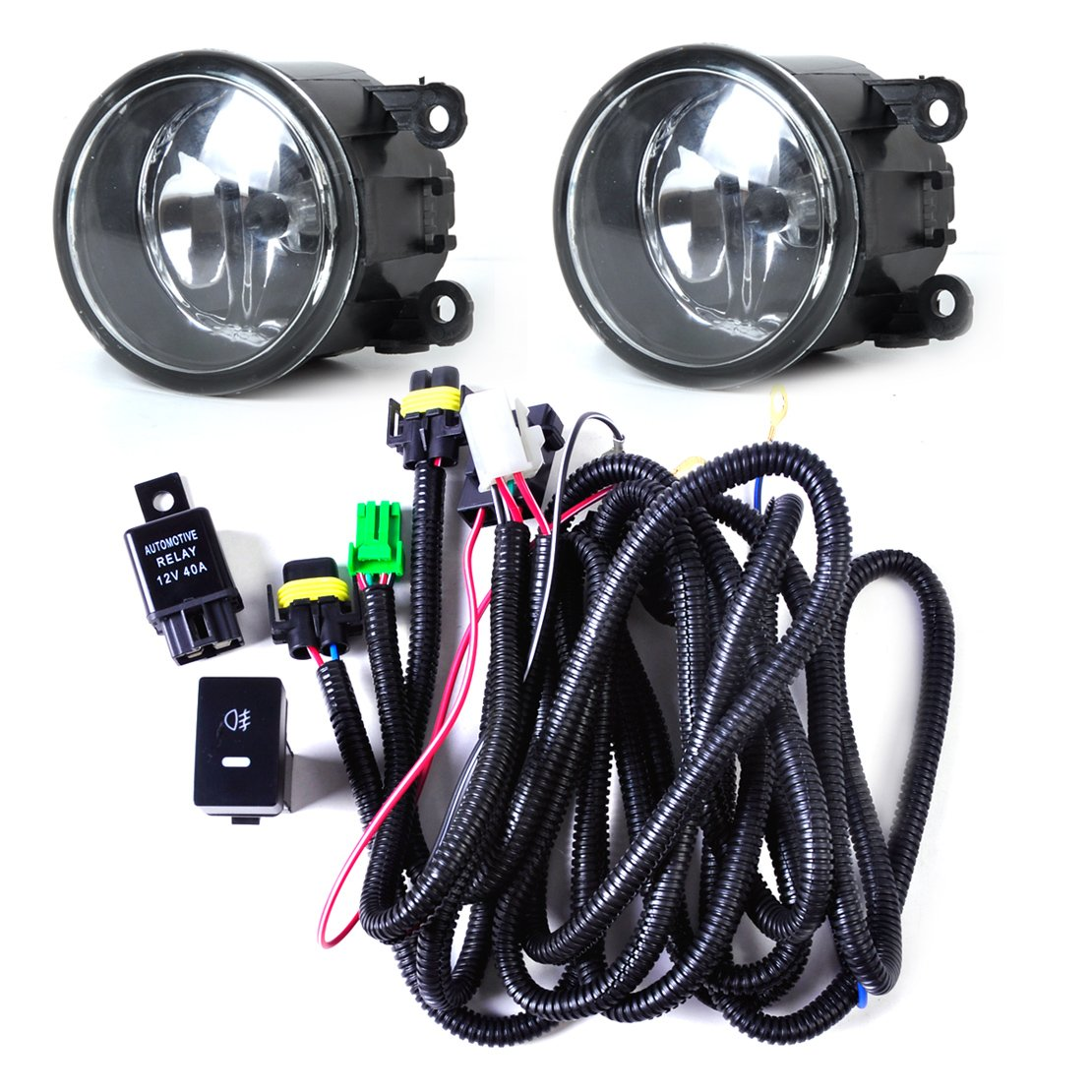 Amazon.com: Wiring Harness Sockets + Switch + 2 H11 Fog Lights Lamp for  Ford Focus Acura Nissan: Automotive