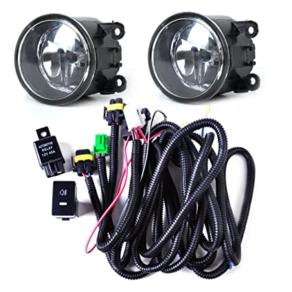 amazon com wiring harness sockets switch 2 h11 fog lights lamp 2007 WRX Fog Light Wiring Harness amazon com wiring harness sockets switch 2 h11 fog lights lamp for ford focus acura nissan automotive