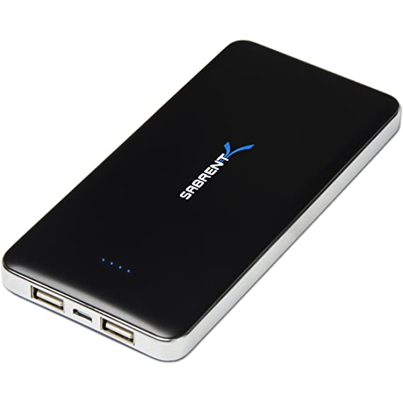 2e74508710d6b3 Image Unavailable. Image not available for. Color: Sabrent 12000mAh High  Capacity External Backup Battery Charger Power Bank Charger with Dual USB  Port (