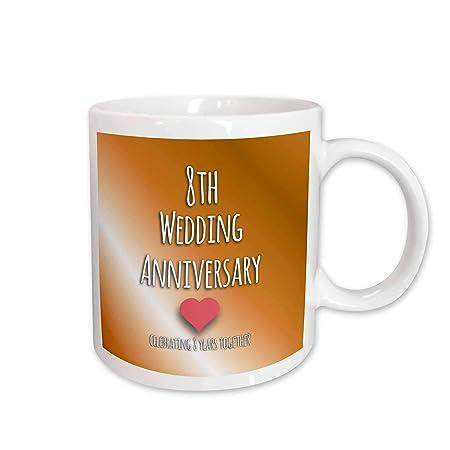 8 Anniversario Di Matrimonio.3drose Mug 154439 2 Anniversario Di Matrimonio Gift Bronze