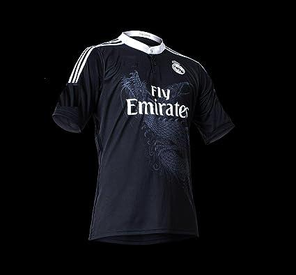 save off a5f97 35e0c Amazon.com : Real Madrid Away Ronaldo #7 Black Dragon Youth ...