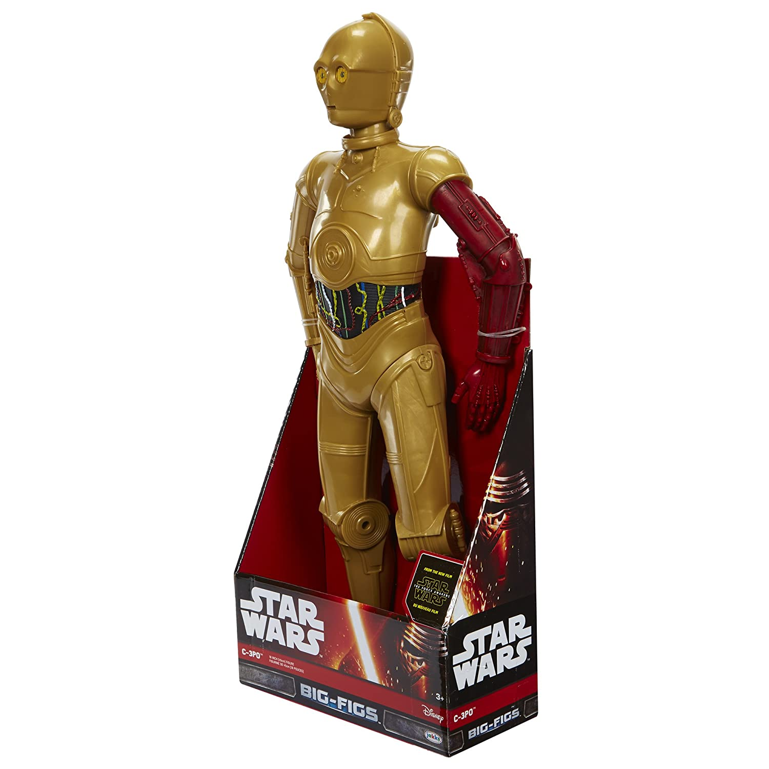 "Jakks Star Wars The Force Awakens Big-Figs C-3PO W// Red Arm 18/"" Action Figure"