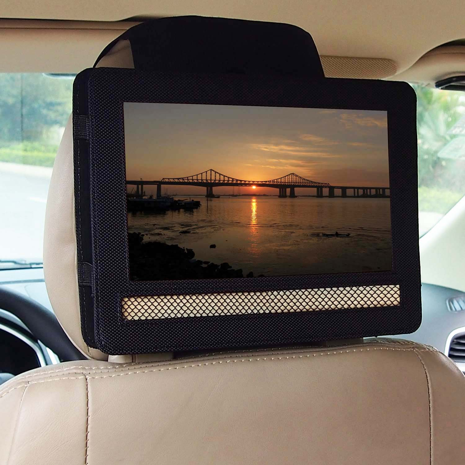 DVD Player Headrest Mount for Swivel & Flip Style Portable DVD Player (10.5 inch)