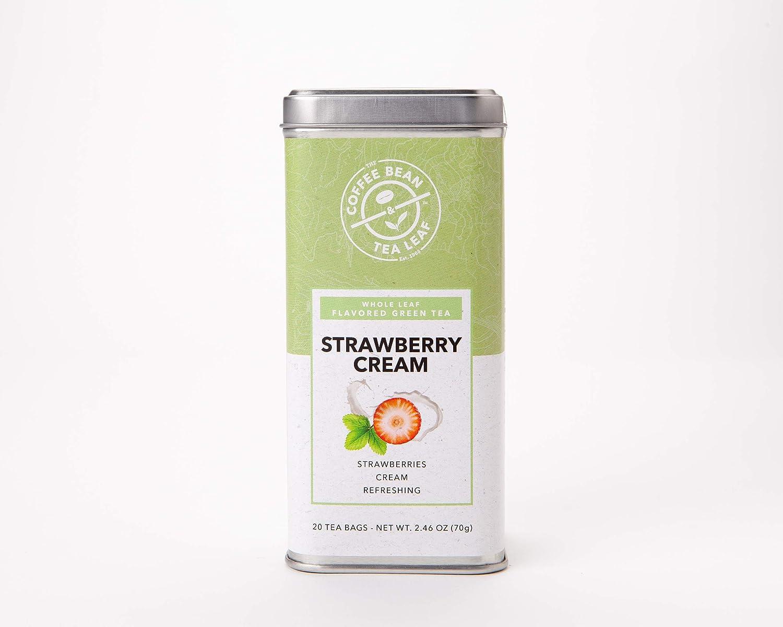 The Coffee Bean & Tea Leaf Strawberry Cream Tea, Green Tea, Fruit Tea, Whole Leaf Tea Bags, 20 Count