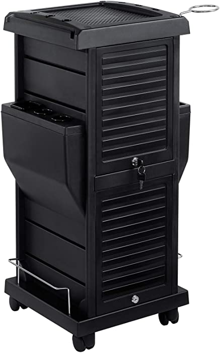 Top 6 Hair Salon Stylist Barber Furniture Locking Styling Cabinet