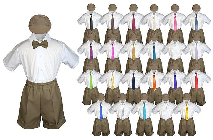 Amazon.com: Bebé niño fiesta traje Pardo oscuro pantalones ...