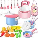 Amazon Com Kidkraft Vintage Kitchen In Pink Toys Amp Games